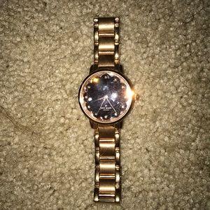 Rose gold/black Kate spade watch